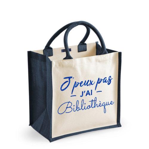 sac-cabas-jute-coton-moyen-bleu-14L-personnalise-original-texte-personnalisable-onely-bleu-pailettes