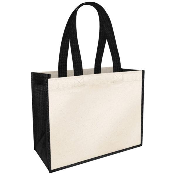 grand-sac-personnalise-cabas-coton-naturel-jute-noir-original-texte-personnalisable-21L-onely-vierge