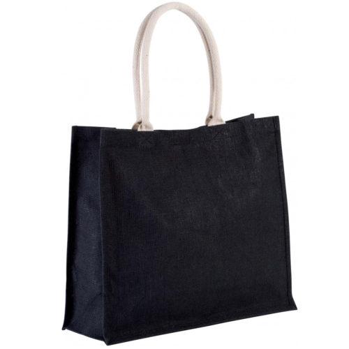 sac-noir-jute-cabas-23L-texte-personnalisable-marquage-couleur-paillette-onely-vierge