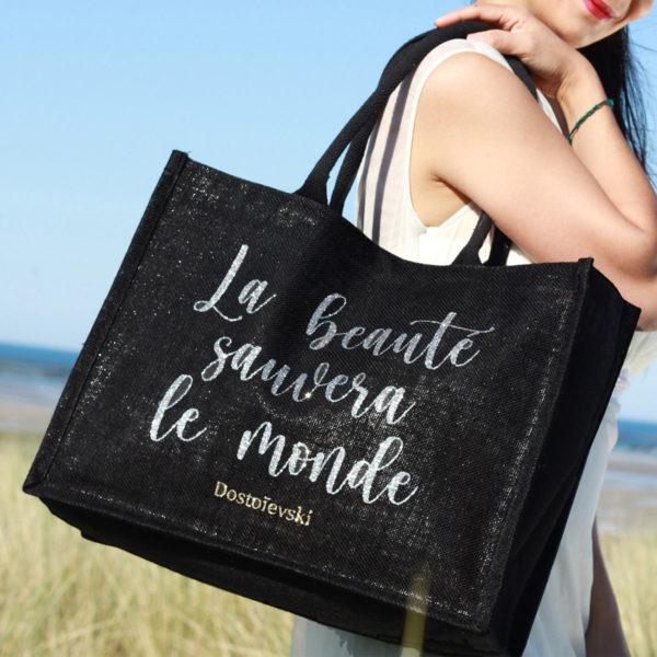 sac-noir-toile-jute-naturelle-cabas-21L-personnalisable-marquage-couleur-paillette-multilum-onely-ambiance