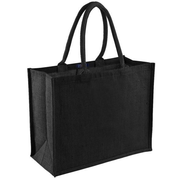 sac-noir-toile-jute-naturelle-cabas-21L-personnalisable-marquage-couleur-paillette-vierge-onely